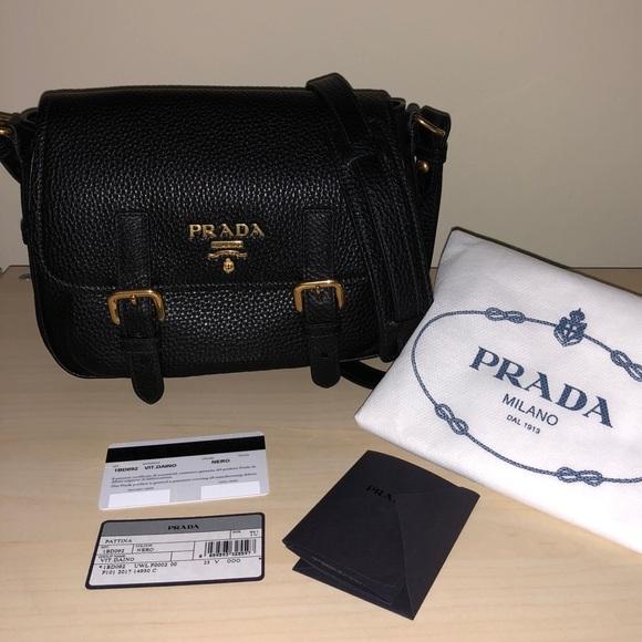 7a07912dca54 Prada Bags   Black Crossbody Messenger Bag Purse 1bd092   Poshmark